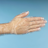 10 x  500 Handschuhe, PE transparent für Damen, M