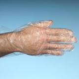 10 x  500 Handschuhe, PE transparent für Herren, L