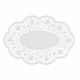 10 x  500 Mokkadeckchen oval 24 cm x 16,5 cm weiss