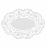 10 x  500 Mokkadeckchen oval 22 cm x 15 cm weiss