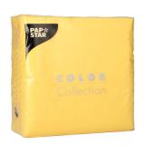 12 x  100 Servietten, 1-lagig 1/4-Falz 33 cm x 33 cm gelb