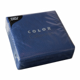 12 x  100 Servietten, 1-lagig 1/4-Falz 33 cm x 33 cm dunkelblau