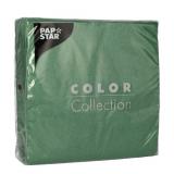 12 x  100 Servietten, 1-lagig 1/4-Falz 33 cm x 33 cm dunkelgrün