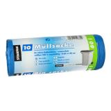 9 x  10 Müllsäcke, LDPE 60 l 85 cm x 60 cm blau