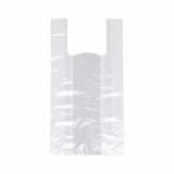 8 x  250 Hemdchen-Tragetaschen, HDPE 48 cm x 22 cm x 12 cm transparent Knotenbeutel