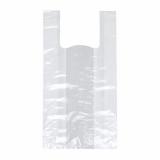 5 x  200 Hemdchen-Tragetaschen, LDPE 60 cm x 30 cm x 18 cm weiss