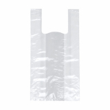 10 x  200 Hemdchen-Tragetaschen, HDPE 55 cm x 22 cm x 15 cm weiss mittel