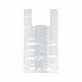 10 x  200 Hemdchen-Tragetaschen, LDPE 50 cm x 26 cm x 16 cm weiss