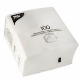 5 x  1000 Servietten, 1-lagig 1/8-Falz 33 cm x 33 cm weiss