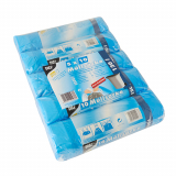 4 x  50 Müllsäcke mit Zugband, HDPE 120 l 100 cm x 70 cm blau