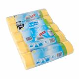 5 x  100 Müllsäcke mit Zugband, HDPE 60 l 71 cm x 64 cm gelb