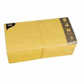 4 x  250 Servietten, 3-lagig 1/4-Falz 33 cm x 33 cm gelb