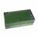 4 x  250 Servietten, 3-lagig 1/4-Falz 33 cm x 33 cm dunkelgrün