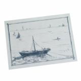 10 x  100 Tischsets, Papier 30 cm x 40 cm weiss Ruderboot