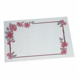 4 x  250 Tischsets, Papier 30 cm x 40 cm weiss Blumenranke