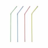 24 x  40 Trinkhalme, flexibel Ø 5 mm · 21 cm weiss Streifen