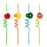 20 x  2 Trinkhalme Ø 6 mm · 28 cm farbig sortiert Cheeky Fruit