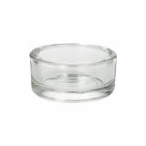 12 x  Kerzenhalter, Glas rund Ø 83 mm · 39 mm glasklar für Maxi Lichte