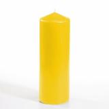 6 x  Stumpenkerze Ø 70 mm · 200 mm goldgelb