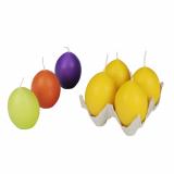 12 x  4 Ostereikerzen 67 mm farbig sortiert