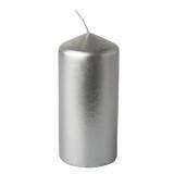 12 x  Stumpenkerze Ø 60 mm · 130 mm silber