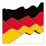 12 x  50 Servietten, 3-lagig 1/4-Falz 33 cm x 33 cm Germany