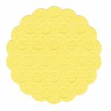 20 x  20 Tassen-Untersetzer rund Ø 9 cm gelb 9-lagig
