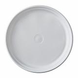 10 x  100 Menü-Teller, PP ungeteilt Ø 21,9 cm · 2,6 cm weiss ohne Anfasser