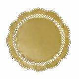 25 x  4 Tortenspitzen rund Ø 36 cm gold
