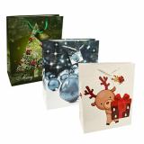 5 x  10 Lacktragetaschen, Groß 32 cm x 26 cm x 13 cm Weihnachten