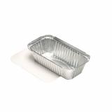 10 x  50 Schalen, Alu + Einlegedeckel, PE-beschichtet eckig 0,7 l 4,9 cm x 10,3 cm x 19,5 cm