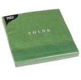 20 x  20 Servietten, 3-lagig 1/4-Falz 40 cm x 40 cm dunkelgrün