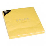 20 x  20 Servietten, 3-lagig 1/4-Falz 40 cm x 40 cm gelb