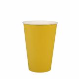 15 x  20 Trinkbecher, Pappe 0,2 l Ø 7 cm · 9,7 cm gelb