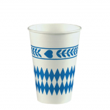 14 x  10 Trinkbecher, Pappe 0,2 l Ø 7 cm · 9,7 cm Bayrisch Blau