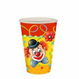 14 x  10 Trinkbecher, Pappe 0,2 l Ø 7 cm · 9,7 cm Clown
