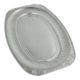 15 x  3 Servierplatten, Alu oval 54,7 cm x 35,8 cm