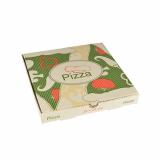 100 Pizzakartons, Cellulose pure eckig 24 cm x 24 cm x 3 cm