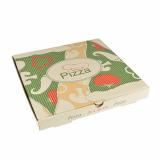 100 Pizzakartons, Cellulose pure eckig 26 cm x 26 cm x 3 cm
