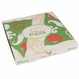 100 Pizzakartons, Cellulose pure eckig 28 cm x 28 cm x 3 cm