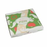 100 Pizzakartons, Cellulose pure eckig 30 cm x 30 cm x 3 cm