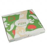 100 Pizzakartons, Cellulose pure eckig 33 cm x 33 cm x 3 cm