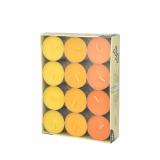 8 x  24 Teelichte Ø 38 mm · 16 mm gelb, orange, borneo