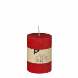 6 x  Zylinderkerze Ø 70 mm · 100 mm rot Rustic durchgefärbt
