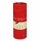 6 x  Zylinderkerze Ø 70 mm · 190 mm rot Rustic durchgefärbt