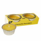 27 x  2 Duftlichte Ø 80 mm · 40 mm gelb - Citronella
