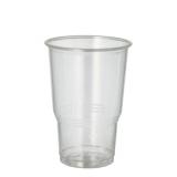 30 x  70 Kaltgetränkebecher, PLA pure 0,25 l Ø 7,8 cm · 11 cm glasklar mit Schaumrand