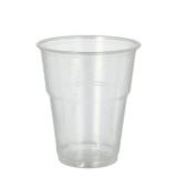 16 x  70 Kaltgetränkebecher, PLA pure 0,3 l Ø 9,5 cm · 11 cm glasklar mit Schaumrand