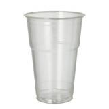 16 x  70 Kaltgetränkebecher, PLA pure 0,4 l Ø 9,5 cm · 13,2 cm glasklar mit Schaumrand