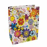 5 x  10 Lacktragetaschen, Groß 32 cm x 26 cm x 13 cm Blumen